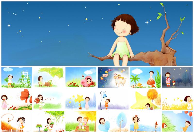 Фоны для детского слайд-шоу